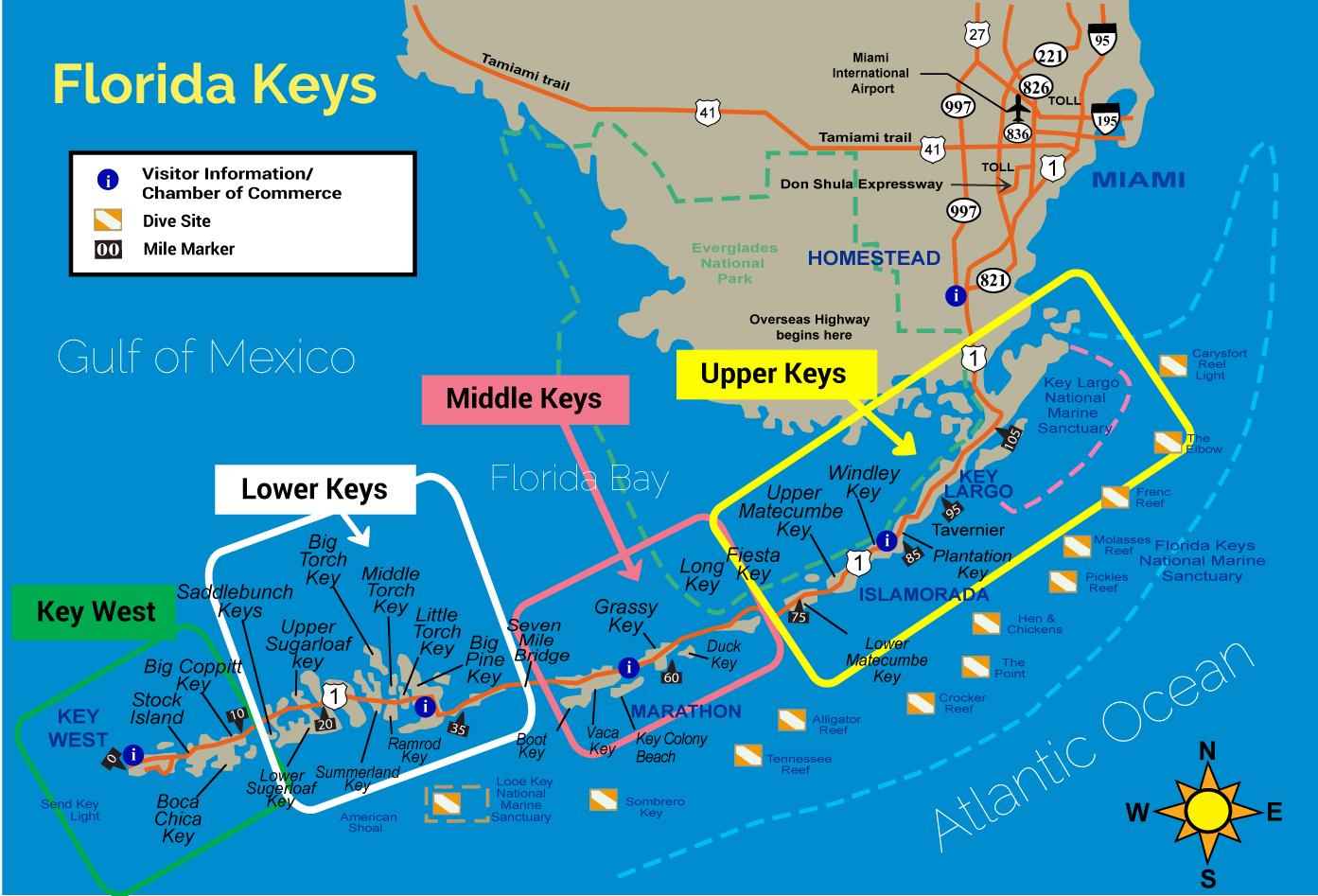 Tourist Map Of Florida.Florida Keys Attractions Map Florida Map 2018