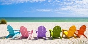 Key West vacation rentals chairs on beach
