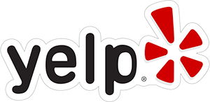 A logo of Yelp at Florida Keys Vacation Rentals