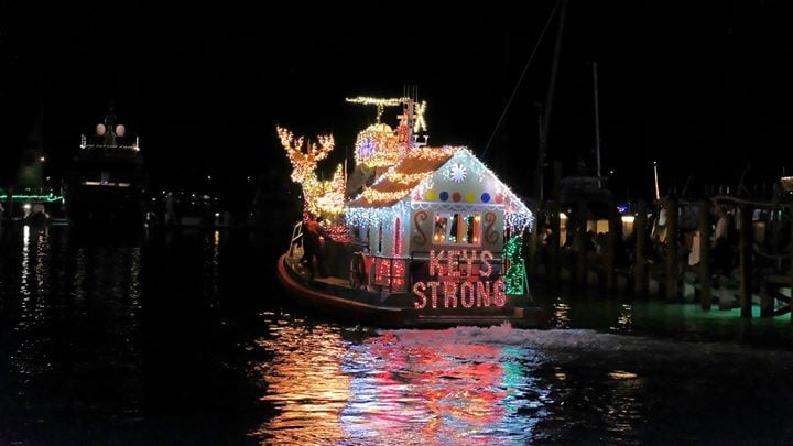 Several Locales In The Keys Stage Lighted Boat Parade Each