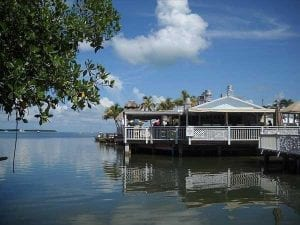 a look at a restaurant/bar that is on the water in the Keys.
